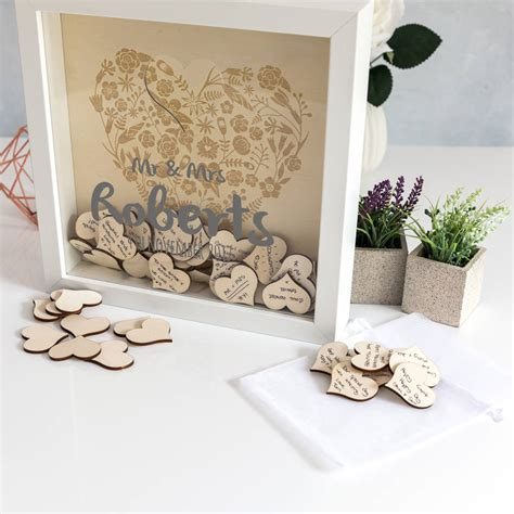 Guest Book Frame With Hearts