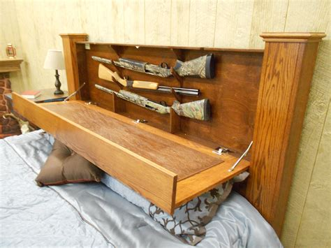 Gun Storage Headboard Diy Projects