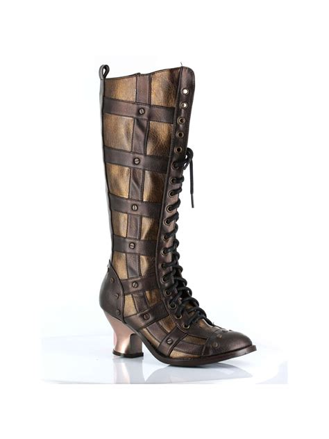 H-Dome 2 inch Lace-up Retro Knee Boot