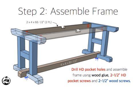 H-Leg-Table-Plans
