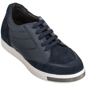 H329083-4 inches Taller - Height Increasing Elevator Shoes - Dark Blue Fashion Sneakers