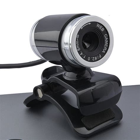 HD USB Camera Built-in Wheat Night Vision Lamp Desktop Notebook. (Color : Black)