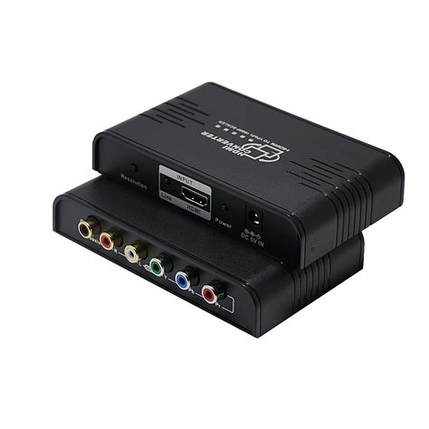 HDMI to 1080P Component Video (YPbPr) Scaler Converter,LinkS HDMI to Component Support Coaxial Audio Output and R / L Audio