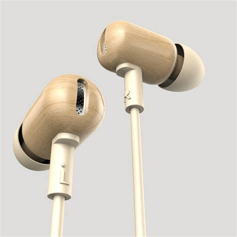 HITSAN 100 new original dzat df 10 wooden in ear earphone diy super bass hifi headset with mic for music gift packaging
