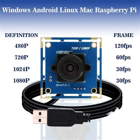 HITSAN 1080p full hd mjpeg 30fps 60fps 120fps high speed cmos ov2710 wide angle mini cctv android linux uvc webcam usb camera module