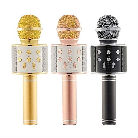 HITSAN Q7 Handheld Karaoke Mic Wireless Microphone Bluetooth USB Speaker Player KTV