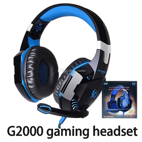 HITSAN kotion each g2000 computer stereo gaming headphones best casque deep bass game earphone headset with mic led light for pc gamer