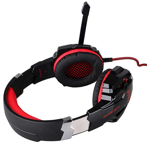 HITSAN kotion each g9000 3 5mm game gaming headphone headset earphone with mic led light for laptop tablet mobile phones ipad pc laptop