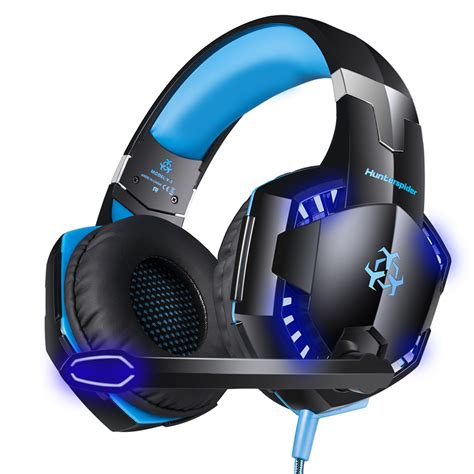 HITSAN wired gaming headset noise cancelling game earphone computer headphones with microphone led light headphones for computer pc