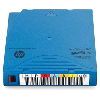 HP C7975AF LTO Ultrium 5 Data Cartridge with Custom Labeling (C7975AF)