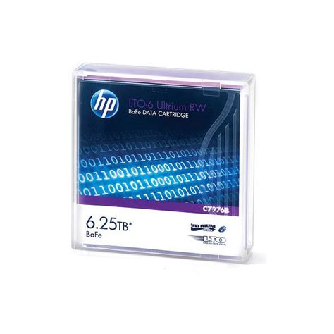 HP C7976B LTO6 Ultrium 6.25TB BaFe ReWritable (RW) Data Tape