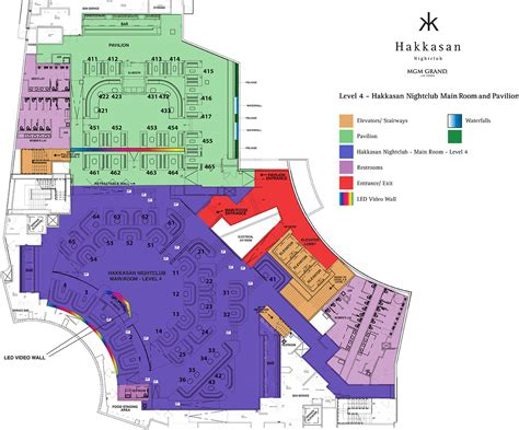 Hakkasan Table Floor Plan