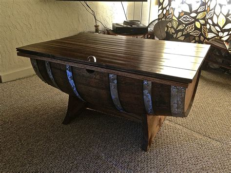 Half Wine Barrel Coffee Table Plans