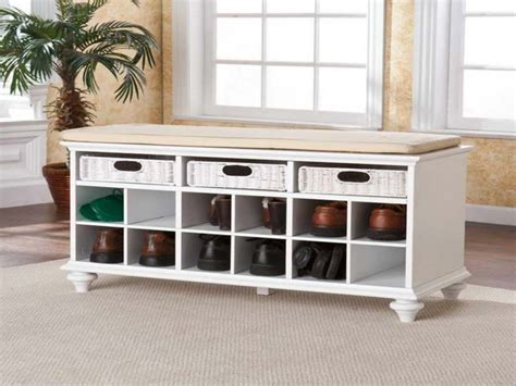 Hall Bench With Shoe Storage Plans