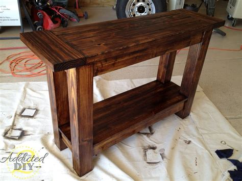 Hall Table Plans Woodworking Plans Minwax Polyshades