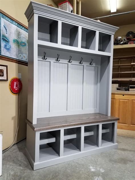 Hall Tree Bench With Cubbies