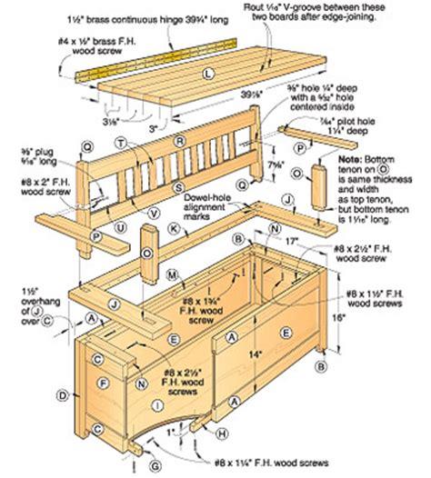 Hall-Bench-Seat-Plans