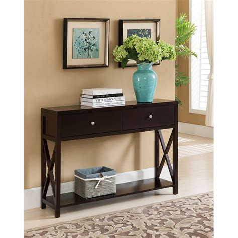 Hall-Table-With-Drawers-Plans