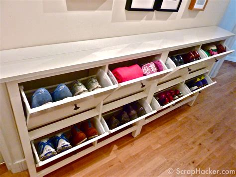 Hallway Bench With Shoe Storage Plans