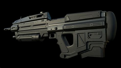 Halo Assault Rifle Artstation And How Many Assault Rifles In America 2015