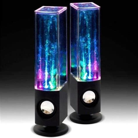 Hanbaili LED Dancing Water Light Speakers Music Fountain For Phones PC Laptop