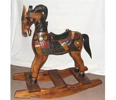 Best Hand carved miniature rocking horse
