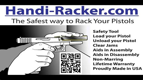 Handiracker 2 Safest Way To Rack Your Pistols Load Unload Clear Jams Charge Racker Patented Safety And Ruger P89 P93 9mm 15round Stainless Steel Magazine