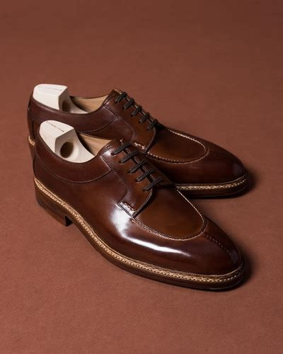 Handmade Leather Oxford Style Men Formal Shoes with Goodyear Welted Construction