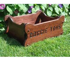 Best Handmade wooden dog toy boxes