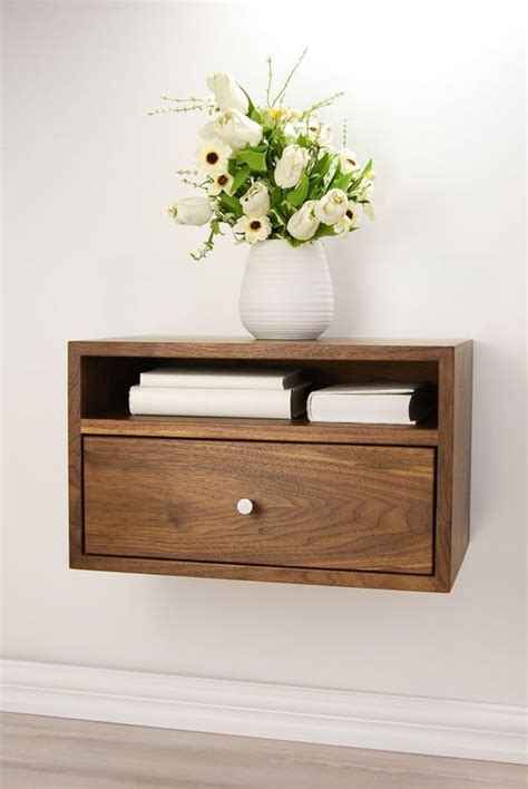 Hanging Bedside Table Diy With Shelf