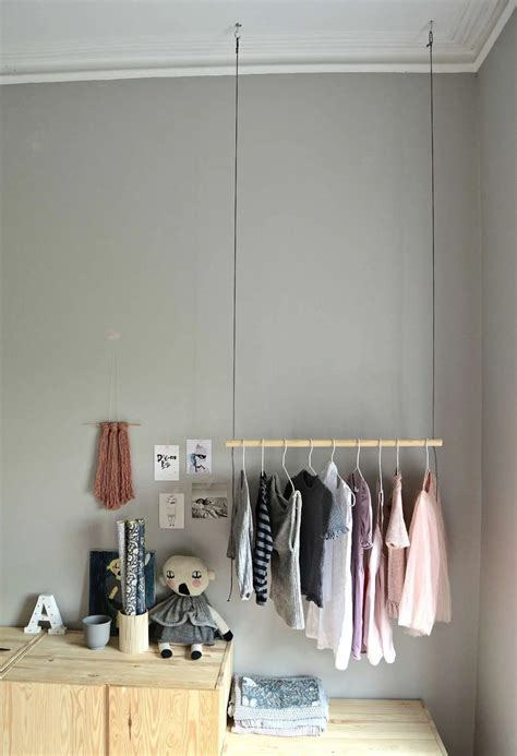 Hanging Clothes Rack From Ceiling Diy Projects