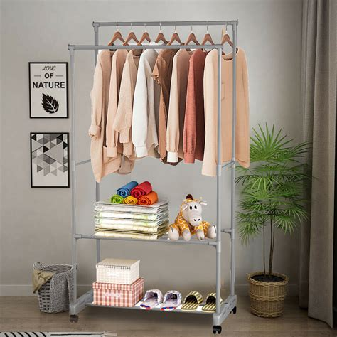 Hanging Coat Rack With Storage