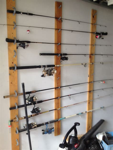 Hanging Fishing Rod Racks DIY