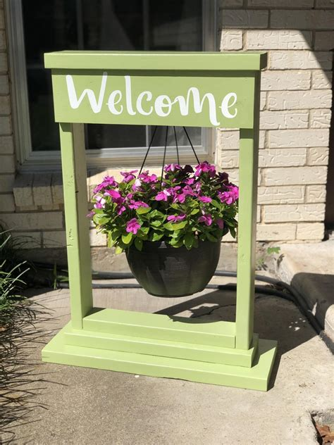 Hanging Flower Basket Stand Diy