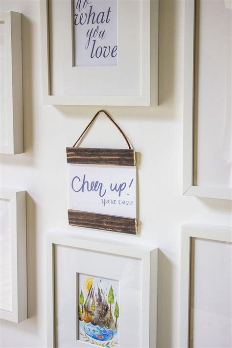 Hanging Poster Frame Diy Designs
