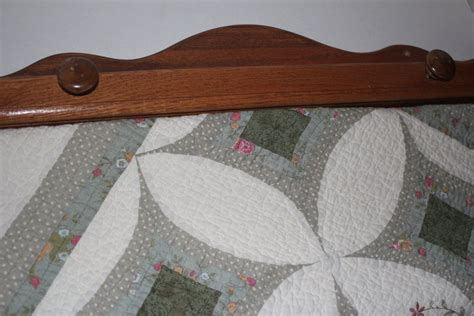 Hanging Quilt Rack With Shelf With Compression Fracture