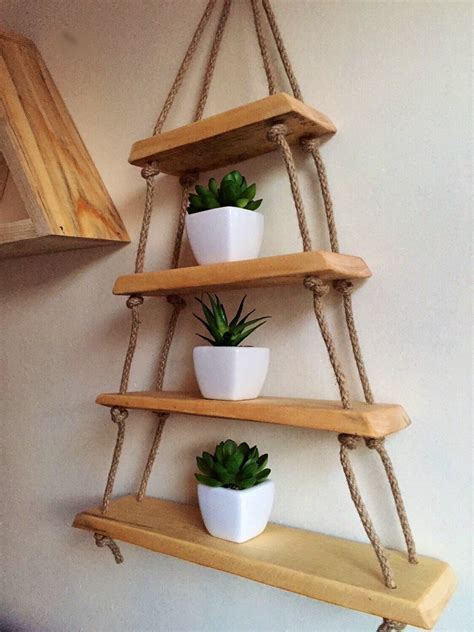 Hanging Wood Shelves Diy