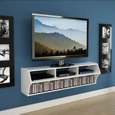Hanging Entertainment Center Attractive Inspiration Wall Plus Floating Mount Stand Mocha Mounted Ideas