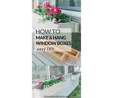 Best Hanging window box plans