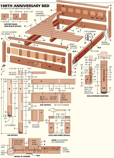 Hardwood-Bed-Woodworking-Plans