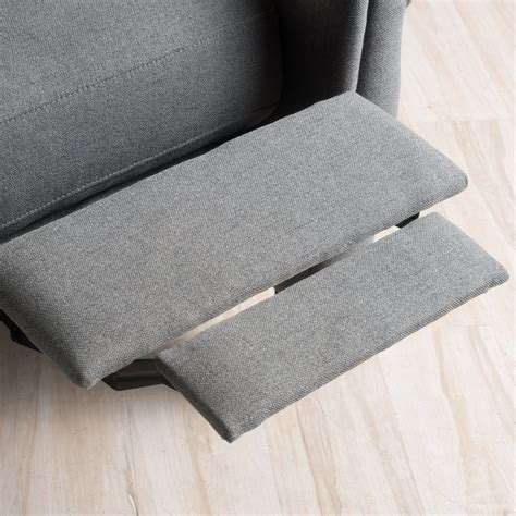 Harrah Charcoal Fabric Recliner