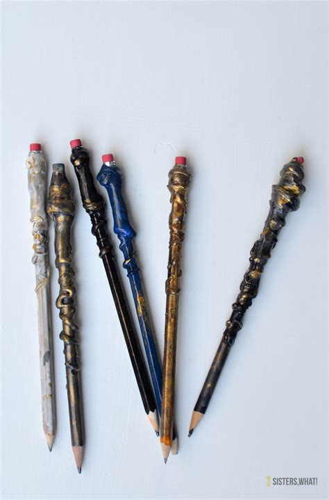 Harry-Potter-Wand-Pencils-Diy