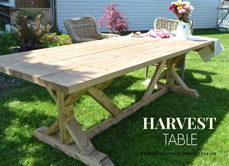 Harvest Table Plans Woodworking
