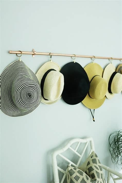 Hat Rack Diy With Copper Pipe