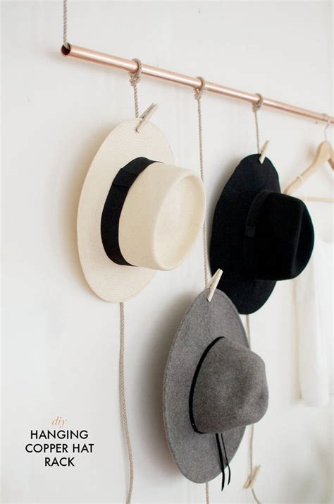 Hat-Rack-Diy-With-Copper-Pipe