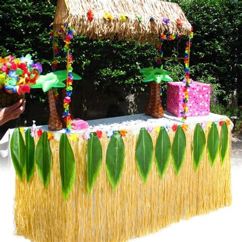 Hawaiian-Table-Skirt-Diy