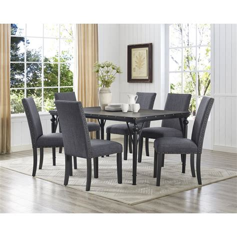 Haysi Wood 7 Piece Dining Set