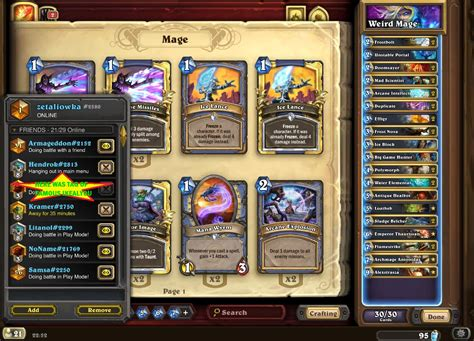 Hearthstone Mage Deck Op Build