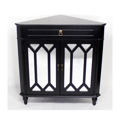 Heather Ann Wooden Corner Cabinet With 1 Drawer And 2 Doors