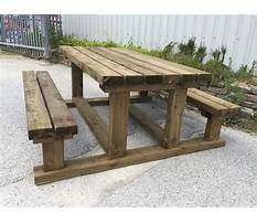 Best Heavy duty wooden picnic table plans